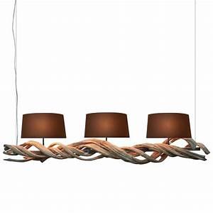 Hängeleuchte 3 Flammig : s luce h ngeleuchte treibholz textil nature root 3 flammig 160cm braun online kaufen otto ~ Whattoseeinmadrid.com Haus und Dekorationen
