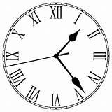 Clock Coloring Analog Fashioned Printable Bulk Drawing Bulkcolor Roman Clocks sketch template