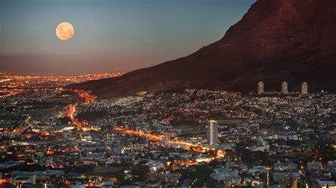 Kapstadt Mond Lichter Der Stadt Stadtbilder Wallpaper