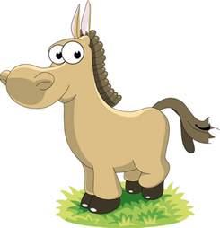 Cute Cartoon Horse Clip Art