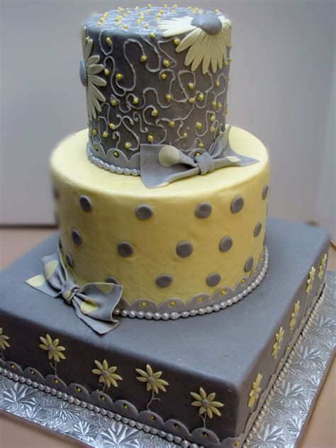 Gray And Yellow Wedding Cake Outrageous Beautiful Cakes