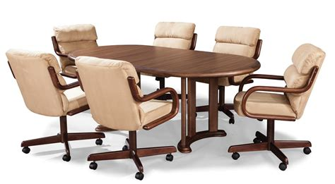 nice dining room chairs with wheels casters leather