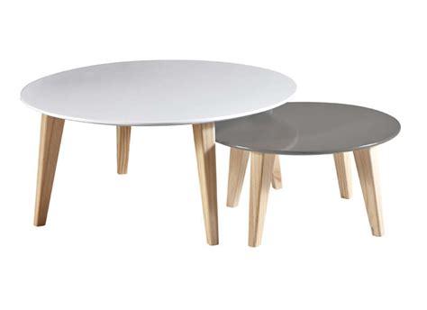 Table Gigogne Scandinave Table Basse Gigogne Rondo