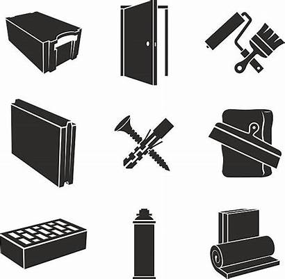 Materials Building Vector Icons Drywall Clip Illustration