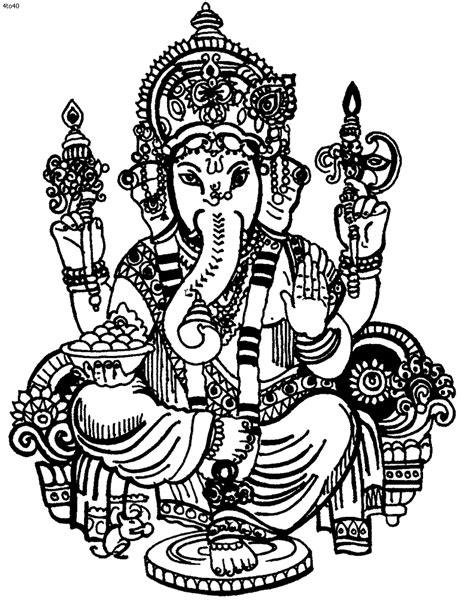 Ganesha Coloring Pages | Ganesha drawing, Ganesha, Ganesh images