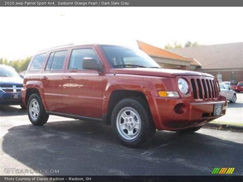 orange jeep patriot 2010 jeep patriot sport 4x4 in sunburst orange pearl photo