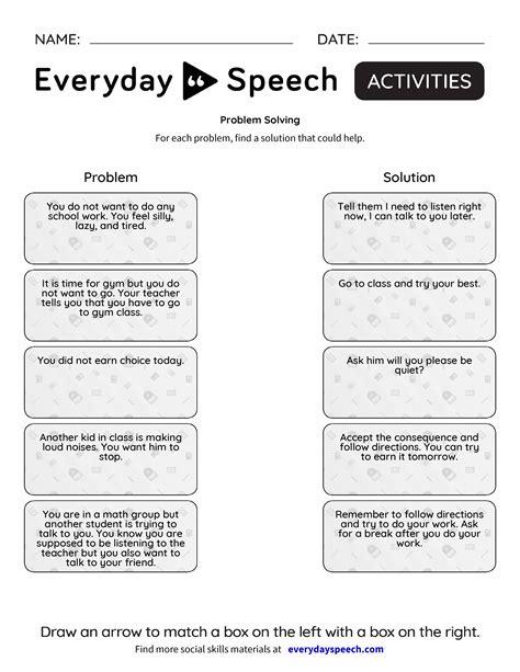 problem solving everyday speech everyday speech