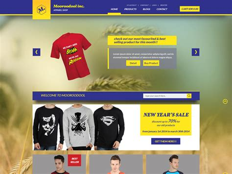 Design Template Magento Bootstrap by Mooroodool Free Ecommerce Bootstrap Template Freemium
