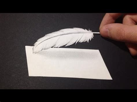 comment dessiner une plume 3d mini tutoriel