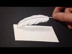 Dessin De Plume Facile : comment dessiner une plume 3d mini tutoriel youtube ~ Melissatoandfro.com Idées de Décoration