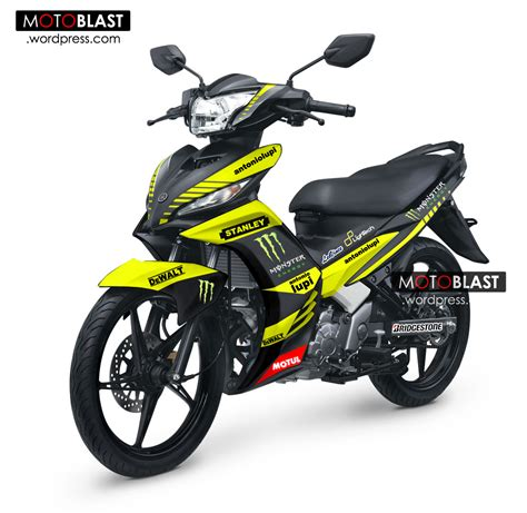 modif striping new jupiter mx ala tech3 motogp pake