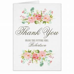 bridal shower thank you cards greeting photo cards With thank you cards for wedding shower