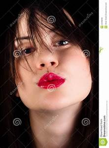 Girl Throwing A Kiss At You Royalty Free Stock Photo