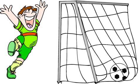 happy soccer boy  goal
