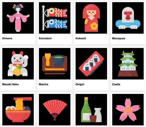 AE模板 36个卡通风格日本传统文化ICON图表动画 Japan Icons   MAC影视后期资源站