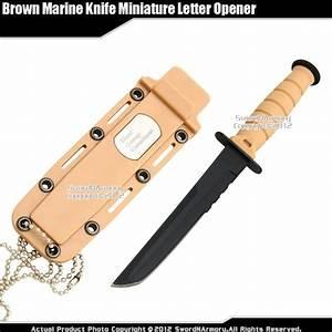 small marine desert combat knife replica letter opener With serrated letter opener