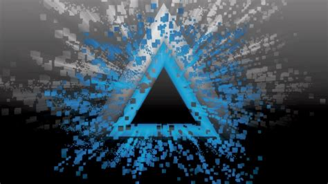 abstract blue black white burst pixelated triangles