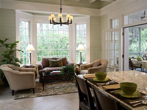Cozy Kitchen Sitting Area With Bay Window Backdrop A Bay