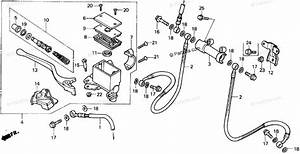 Honda Atv 1986 Oem Parts Diagram For Front Brake Master