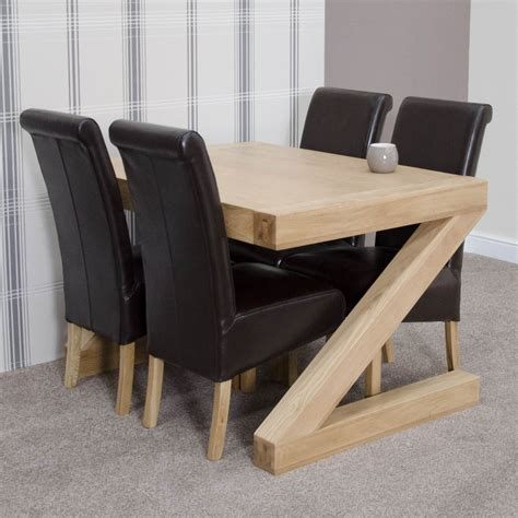 table and four chairs z solid oak designer furniture dining table and four