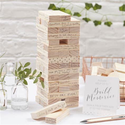 build  memory wedding guest book alternative  ginger