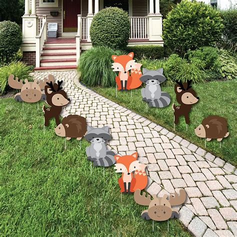 woodland creatures forest animal lawn decorations