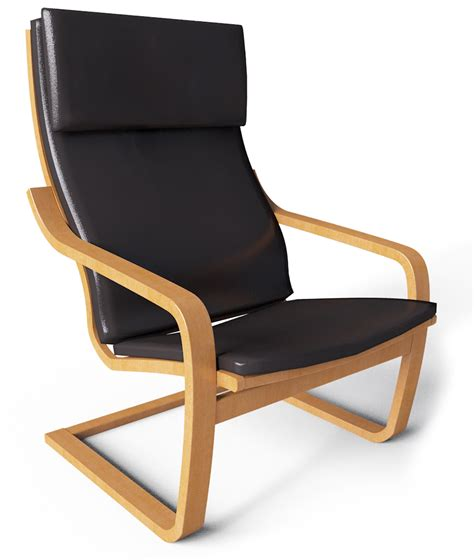 chaise dwg cad and bim object poang armchair ikea