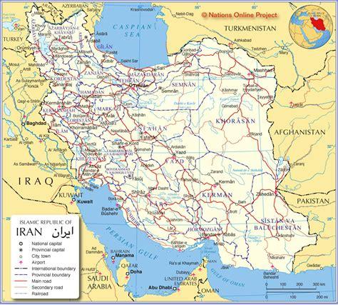maps  iran   region iran corner