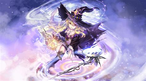 Wizard, Witch, Blonde, Long Hair, Red Eyes, Looking At