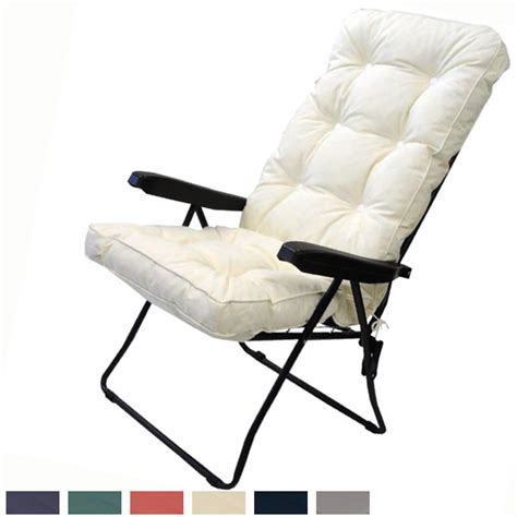 luxury tubular recliner cushion 50cm wide various colours