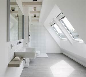 salle de bains sous les combles un espace de bien etre With plan salle de bain sous comble