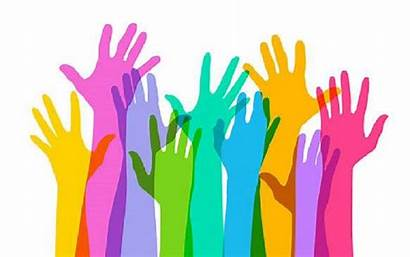 Hands Raised Vector Reaching Activities Classroom Political