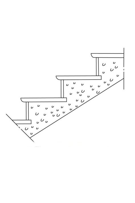 schema escalier exterieur