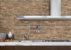 Brick wall kitchen images classic white recessed panel for What kind of paint to use on kitchen cabinets for ceramic art wall tiles