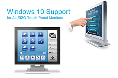 eizo provides windows 10 support for all 15 of its touch