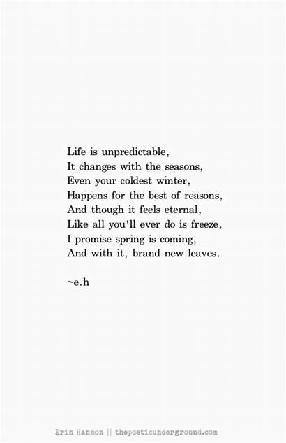 Seasons Quotes Spring Poems Poem Unpredictable Poetry