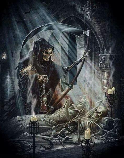 Death Grim Reaper Skull