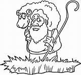 Coloring Sheep Lost Colorear Pastor Oveja Perdida Dibujos Ovelha Colorir Parabola Bibbia Colorare Desenhos Pintar Ovelhas Eid Disegni Desenho Pecorella sketch template