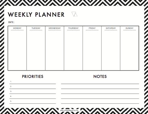weekly planner templates word excel templates