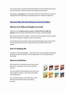 The Diet Solution Program Manual Pdf