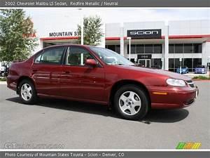 Redfire Metallic - 2002 Chevrolet Malibu Ls Sedan - Neutral Interior