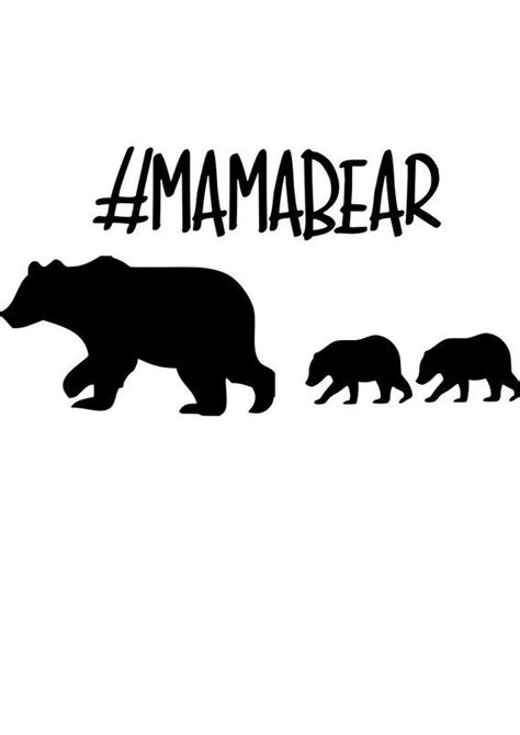 High quality mama bear svg gifts and merchandise. Mama bear and cubs clip art clipart collection - Cliparts ...