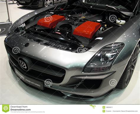 Brabus 700 Biturbo Engine Editorial Photo. Image Of Detail