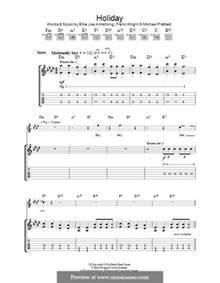 Guitar » Guitar Tabs Green Day - Music Sheets, Tablature