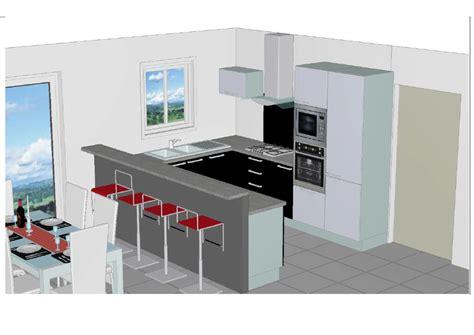 exemple de cuisine en u modele cuisine amenagee cuisine en image