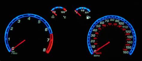 ford focus st mk mph kmh speedo meter clocks dials white