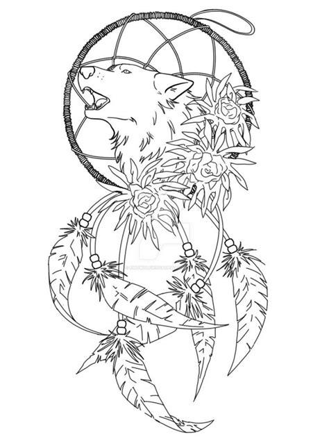 Wolf Dreamcatcher Tattoo Idea by EmoWolfie1145 on DeviantArt | pages | Wolf dreamcatcher tattoo