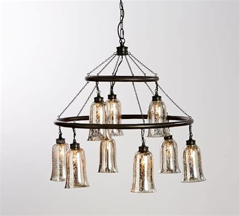 chandelier l shades pottery barn brantley antique mercury glass chandelier pottery barn
