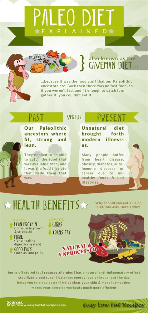 cuisine paleo paleo diet explained visual ly