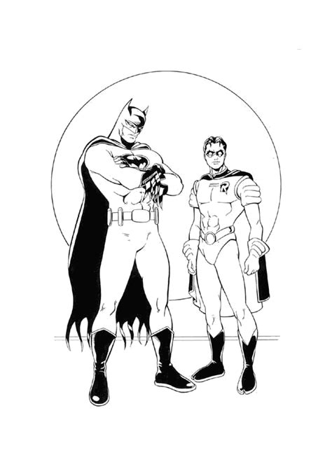 Batman And Robin Coloring Pages The Robin Coloring Pages